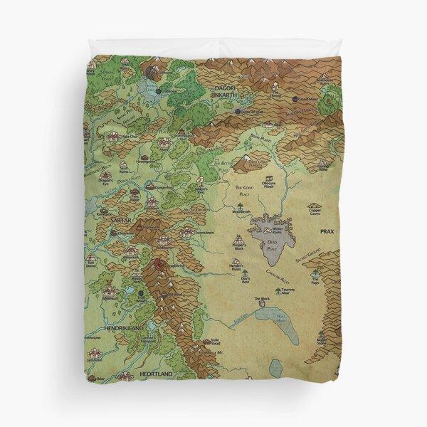 Dragon Pass and Prax Map by Darya Makarava Duvet Cover