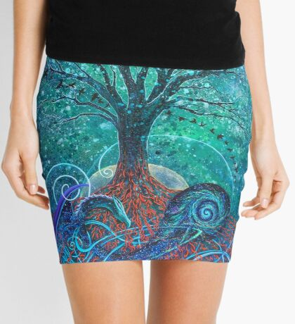 Tree of Life, Dark Moon. Mini Skirt