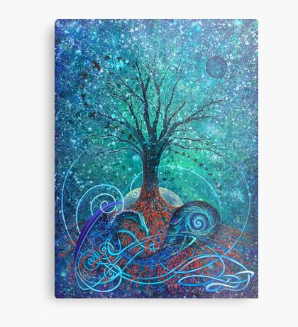Tree of Life, Dark Moon. Metal Print