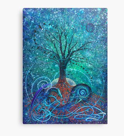 Tree of Life, Dark Moon. Canvas Print