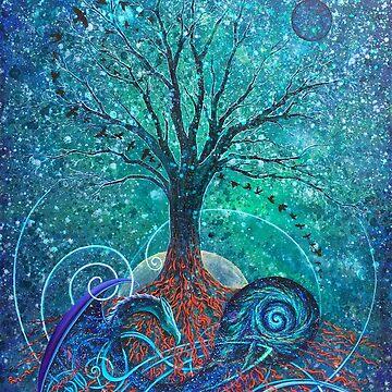 Tree of Life, Dark Moon. by katemccredie