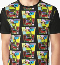 Scattered Mess Repeat (Facemadics abstract face colorful contemporary) Graphic T-Shirt