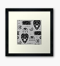 Monochrome Ouija and Witchcraft Framed Print