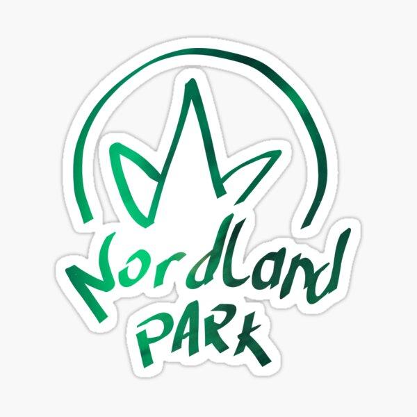 gemaltes Logo - Grün Sticker
