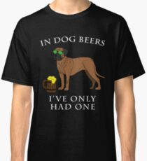 Bullmastiff I've Only Had One In Dog Beers Year of the Dog Irish St Patrick Day Classic T-Shirt