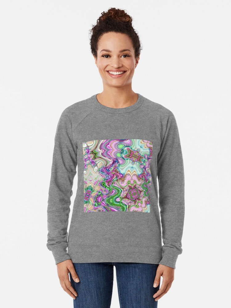 Alternate view of Transcendental Abstracts Lightweight Sweatshirt