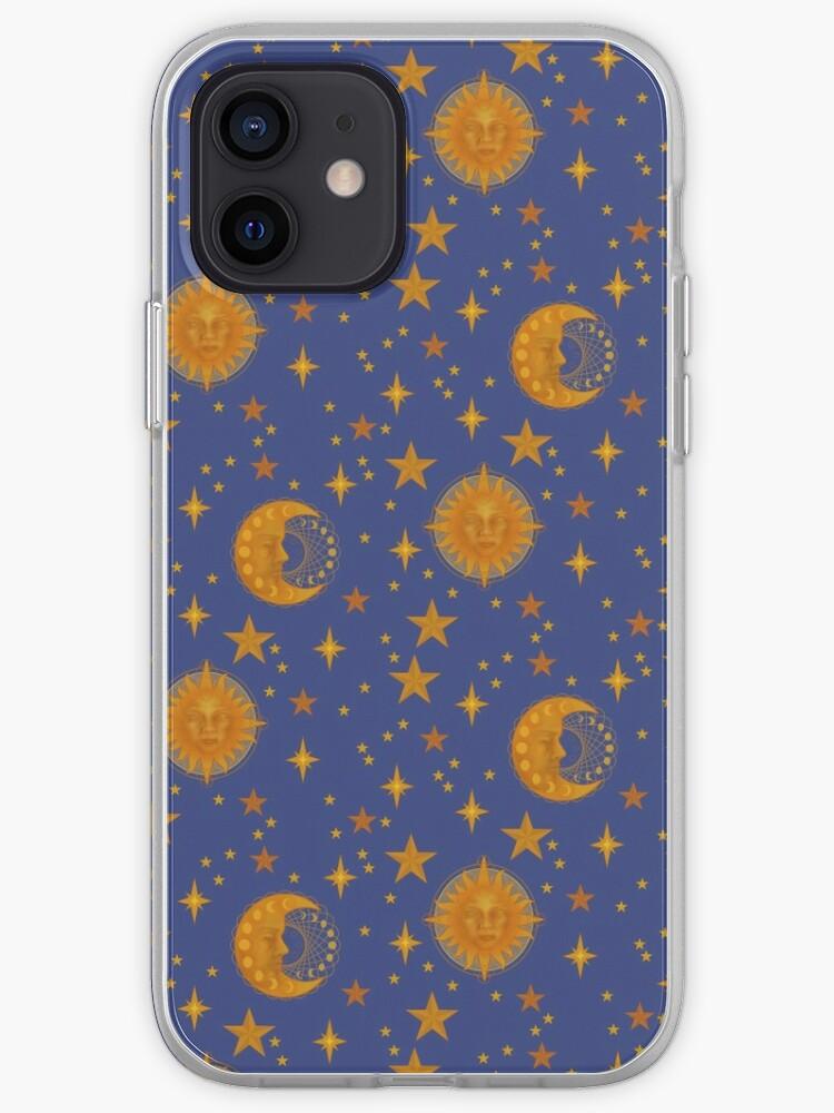 Bohème des années 90 soleil et lune modèle céleste   Coque iPhone
