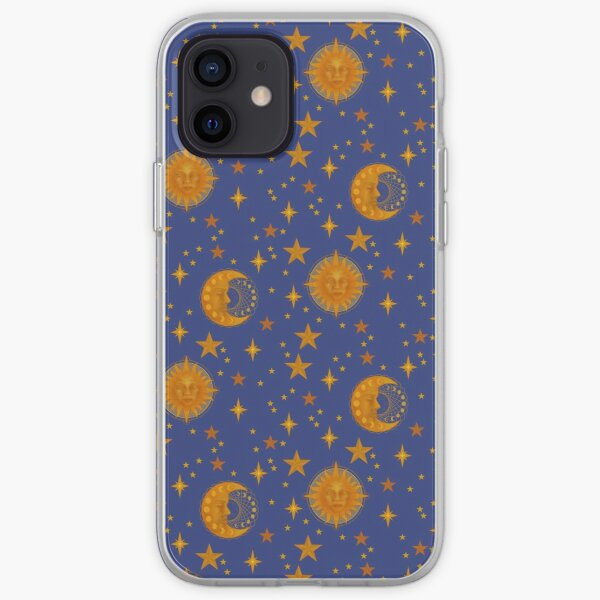 Bohemian 90's Sun and Moon Celestial Pattern iPhone Soft Case