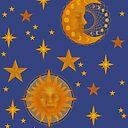 Bohemian 90's Sun and Moon Celestial Pattern