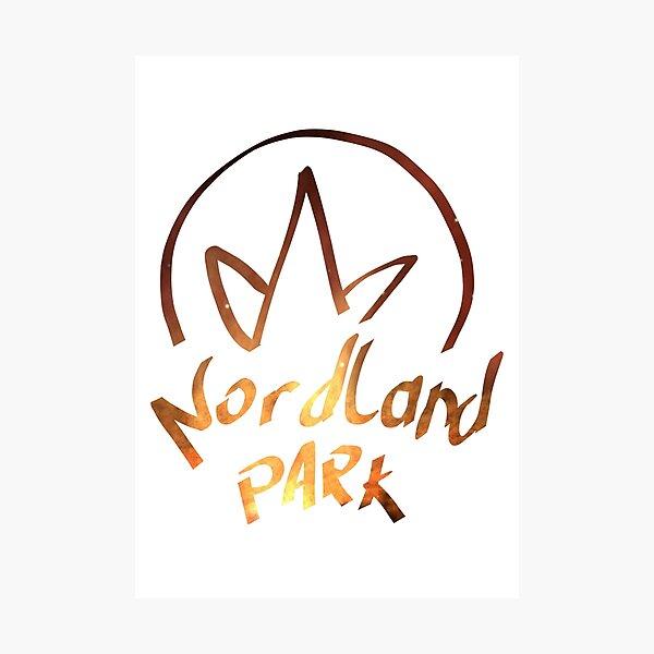 gemaltes Logo - Orange Fotodruck
