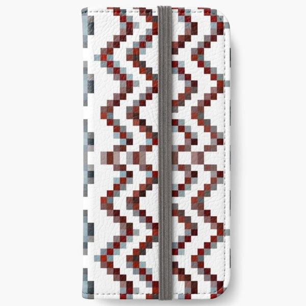 Illusion background, Structure, composition, design, drawing, illustration,  tapis, garment iPhone Wallet