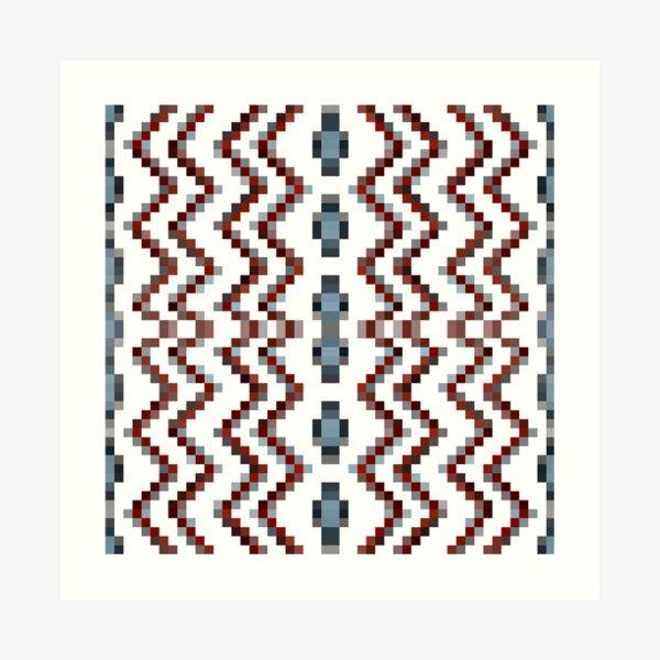 Illusion background, Structure, composition, design, drawing, illustration,  tapis, garment Art Print