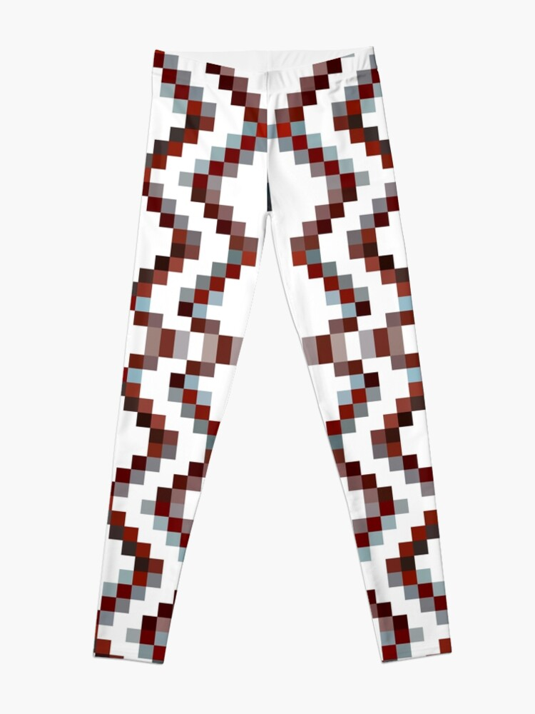 Alternate view of Illusion background, Structure, composition, design, drawing, illustration,  tapis, garment Leggings
