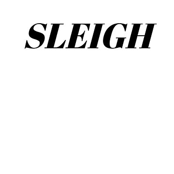 Sleigh by typogracat