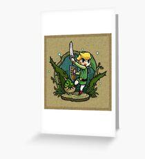 Zelda Wind Waker Forbidden Woods Temple Greeting Card