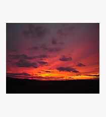 Susnet in Red Orange and Yellow Photographic Print