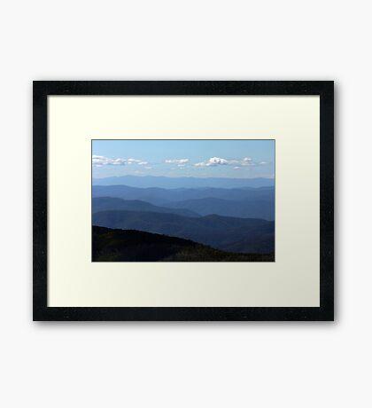 Mountain ridges Framed Print