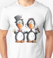 Penguin Wedding Unisex T-Shirt