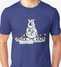 Cute Polar Bear With Penguins Unisex T-Shirt