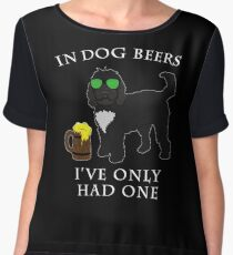 Cockapoo Ive Only Had One In Dog Beers Year of the Dog Irish St Patrick Day Chiffon Top