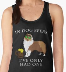 Collie Ive Only Had One In Dog Beers Year of the Dog Irish St Patrick Day Women's Tank Top