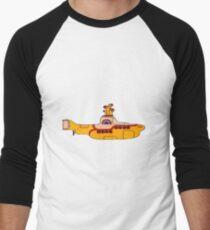The yellow submarine of the Beatles Men's Baseball ¾ T-Shirt