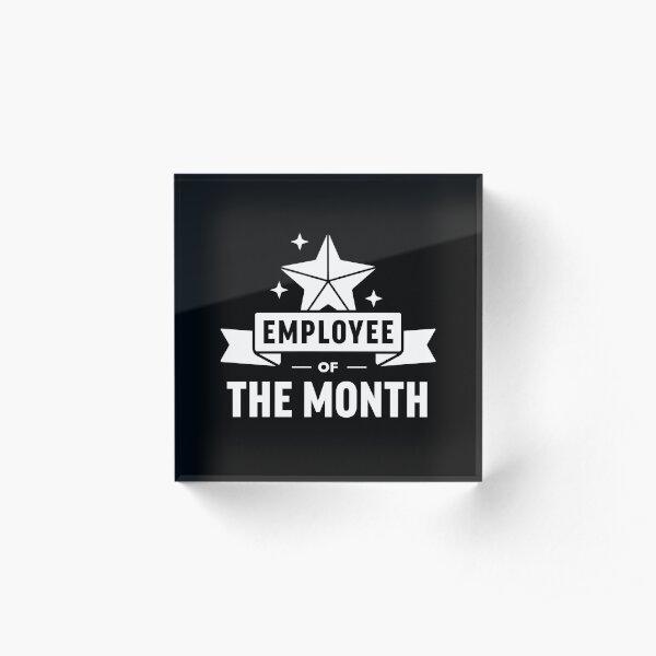 Employee Of The Month Acrylic Block