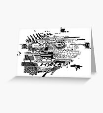 Lizard Glitch Greeting Card