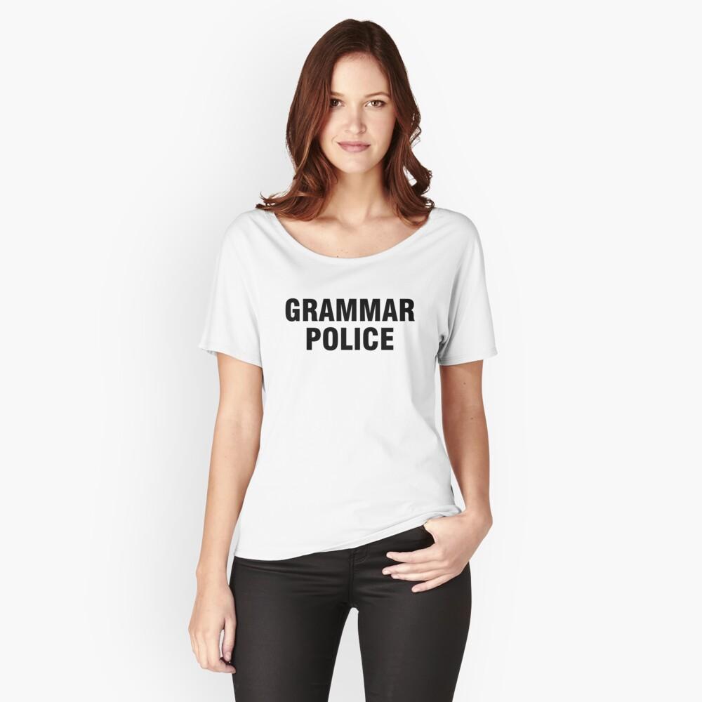 La policía gramática Camiseta ancha