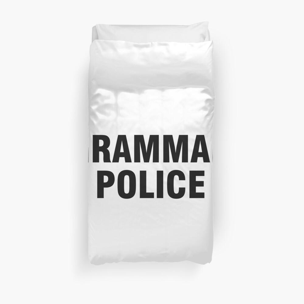 La policía gramática Funda nórdica