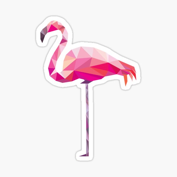 Geometric Flamingo Sticker