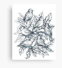 Autumn birds  - Bird illustration  Canvas Print