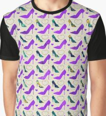 High Heels Purple glitter, marble and hearts Graphic T-Shirt