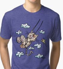 Swinging Cat Tri-blend T-Shirt