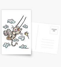 Swinging Cat Postcards