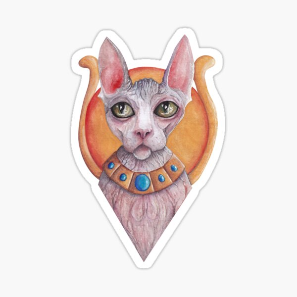 The Cat Goddess Sticker