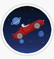 Tesla In Space Sticker