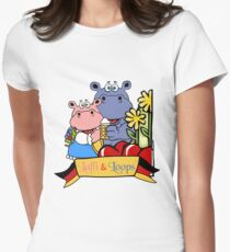 Hippos make party Women's Fitted T-Shirt