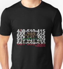 Bay Area Codes T-Shirt