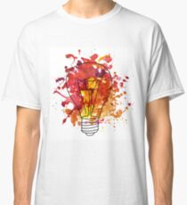 Watercolor illustration of edison's bulb Classic T-Shirt