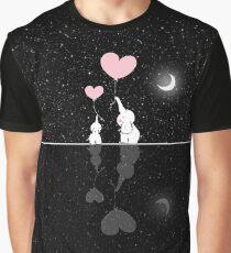 Elephants Love Starry Night Graphic T-Shirt