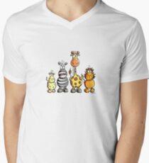 Cute African Animals Men's V-Neck T-Shirt