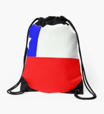 Flag of Chile Drawstring Bag