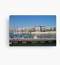 The Zea Marina in Athens Canvas Print