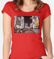 Ginza Streetscape, Chūō, Tokyo Women's Fitted Scoop T-Shirt