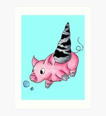 Orthoceras Piggy Art Print