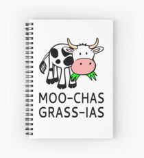 Moo-chas Grass-ias (Muchas Gracias) Spiral Notebook