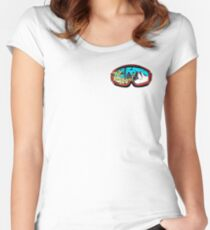 Hit the slopes ski goggles Women's Fitted Scoop T-Shirt