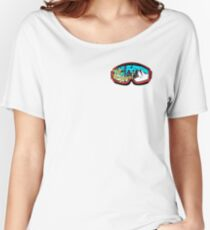 Hit the slopes ski goggles Women's Relaxed Fit T-Shirt
