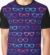 Super Nerdy Retro Geek Glasses Graphic T-Shirt
